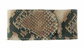 Snake skin designed leather sheath