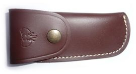 Cudeman brown leather sheath for folding knife