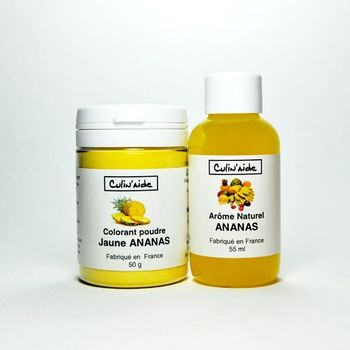 Arôme Naturel ANANAS + Colorant Jaune Ananas