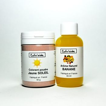 Natural Aroma BANANE + Sun Yellow Colouring