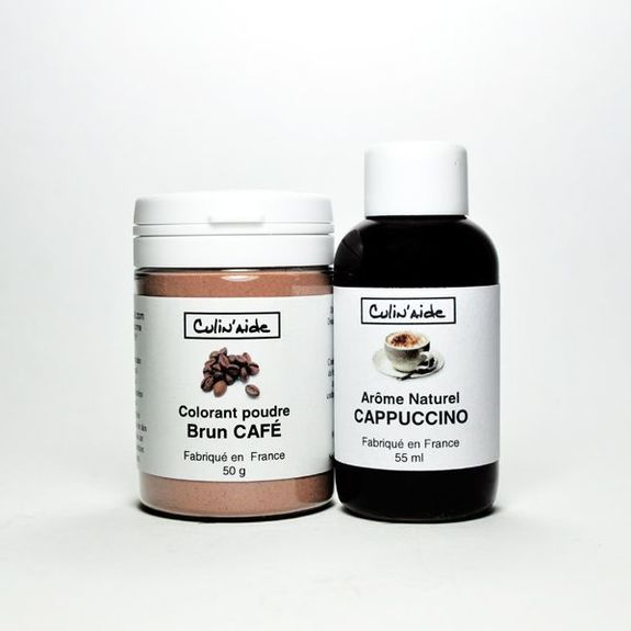 Natural Aroma CAPPUCCINO + Coffee Brown Colouring
