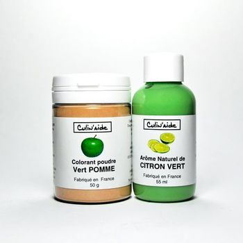 Natural LEMON LEMON Flavouring + Apple Green Colouring Agent