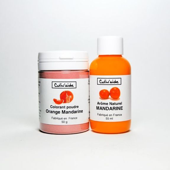Arôme Naturel MANDARINE + Colorant Mandarine