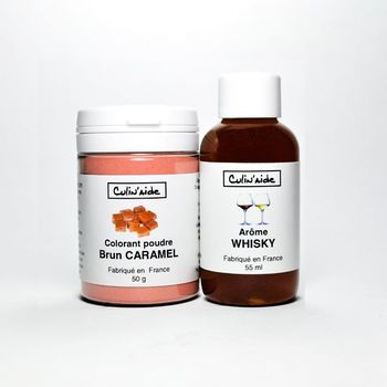 Arôme WHISKY + Colorant Brun caramel