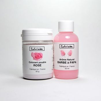 Arôme Naturel BARBE à PAPA + Colorant Rose