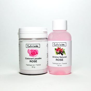 Arôme Naturel ROSE + Colorant Rose