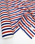 Voile rayures tri-color