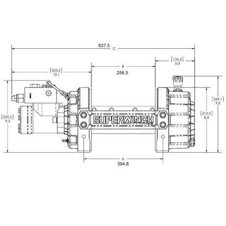 Treuil Hydraulique 4535 kg SUPERWINCH