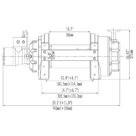 Treuil Hydraulique 8170 kg