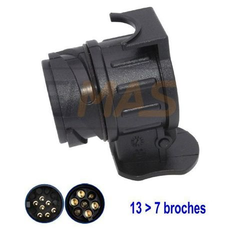 Adaptateur 13 > 7 broches 12V