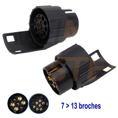 Adaptateur 7 > 13 broches 12V