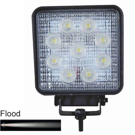 Feux de travail LED 12/24V Flood 27W