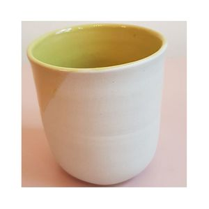STELLA LARGE CERAMIC CUP, ANISE YELLOW