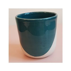 STELLA SMALL CERAMIC CUP, TURQUOISE