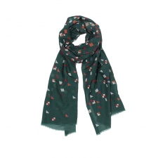 ARSENE SCARF, DARK GREEN