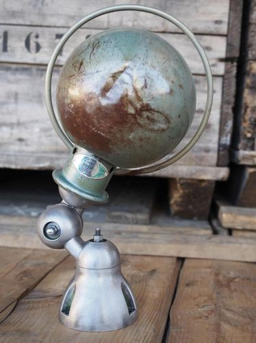 Unique lampe Jielde 1 applique finition vintage industrielle