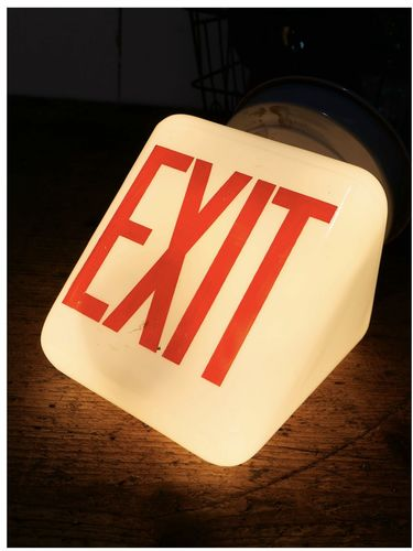 Exit Lampe americaine opaline