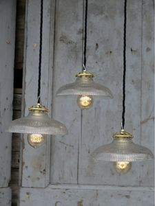 1 abat jour suspention atelier holophane lampe industrielle