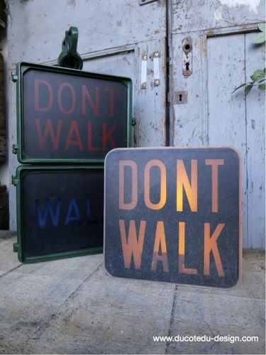 Plaque de feu don t walk americain vintage USA / dont walk