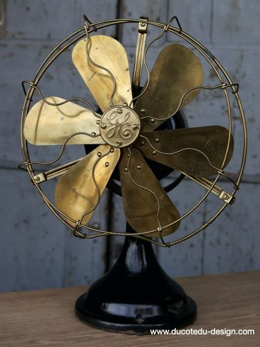 ancien ventilateur general electric industriel 1920 USA