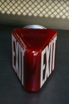 Grand Exit Lampe opaline rouge socle metal