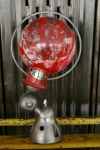 Unique lampe Jielde 1 applique finition rouge vintage industrielle