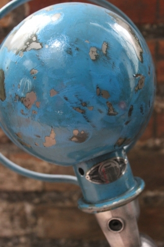 Unique lampe Jielde 1 applique finition vintage bleu industrielle 1