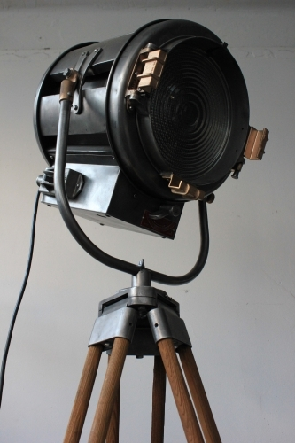 Ancien projecteur cinema hollywood Richardson an 40/50 trepied bois