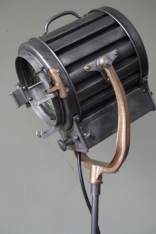 Tres rare ancien projecteur cinema hollywood Richardson 1930/40 pied cinema roulette