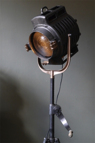 Ancien rare projecteur cinema hollywood Richardson 1930/40 pied cinema tripod cremaillere