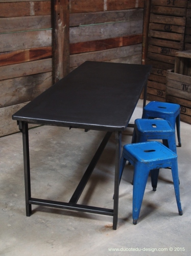 Table militaire metal bureau industrielle