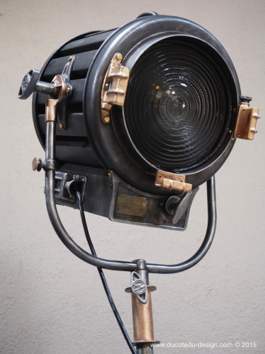 Ancien projecteur cinema hollywood Richardson 1930/40 pied cinema roulette