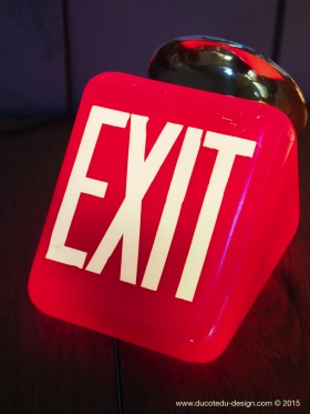 Exit Lampe USA opaline rouge