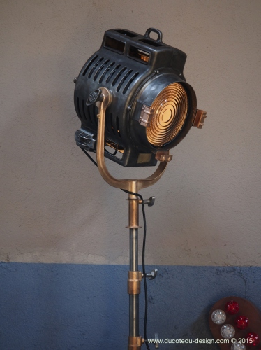 Ancien rare projecteur cinema hollywood Richardson 1930/40 pied cinema roulette