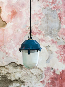 lampe baladeuse industrielle suspension en verre et metal