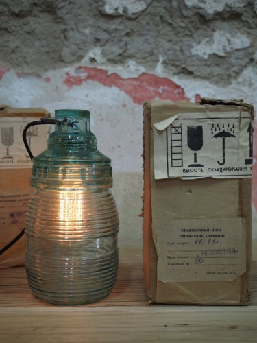 lampe baladeuse industrielle suspension 100% verre