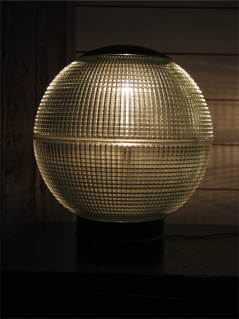 Grande lampe a poser globe holophane 35 cm for Lampe a poser grande taille