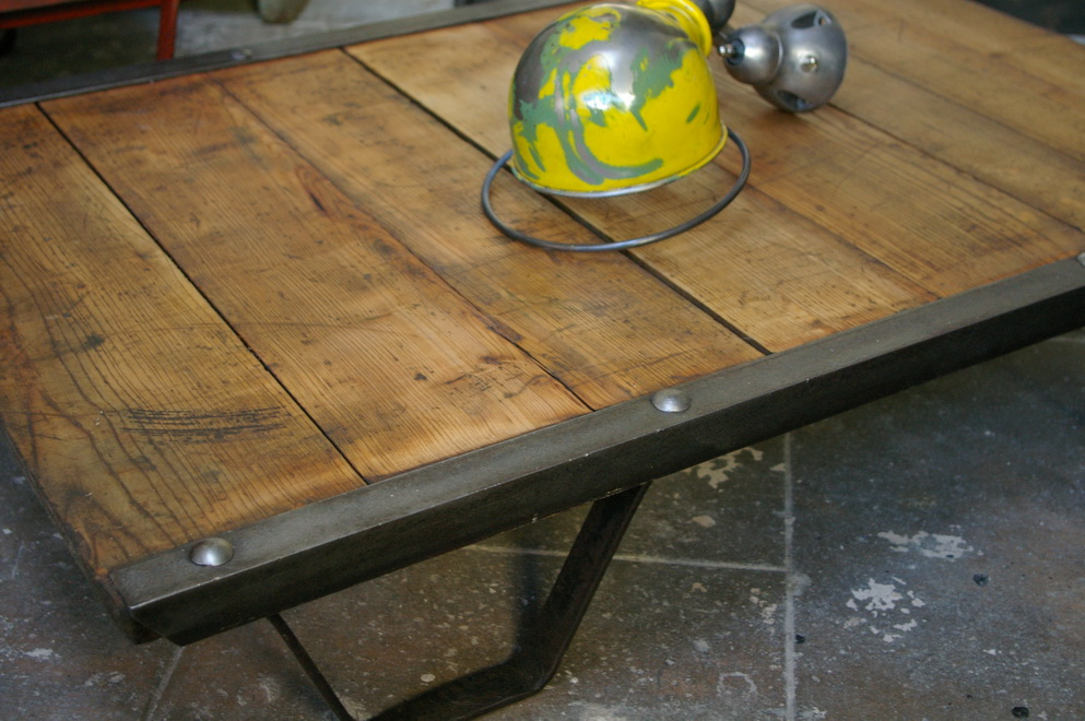 Table Basse Industrielle : Table Basse Industrielle Charette Pictures