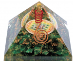 Pyramide Orgonite en Malachite