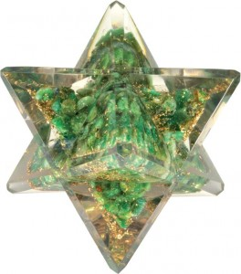 Merkaba Jade Orgonite (Grand modèle)