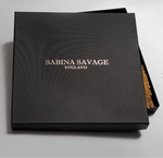"Grand foulard carré Sabina savage  - twill de soie - 90/90 cm - ""Grues de Canton"""