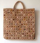 Grand tote bag / sac Sophie Digard - biscuit pop minus
