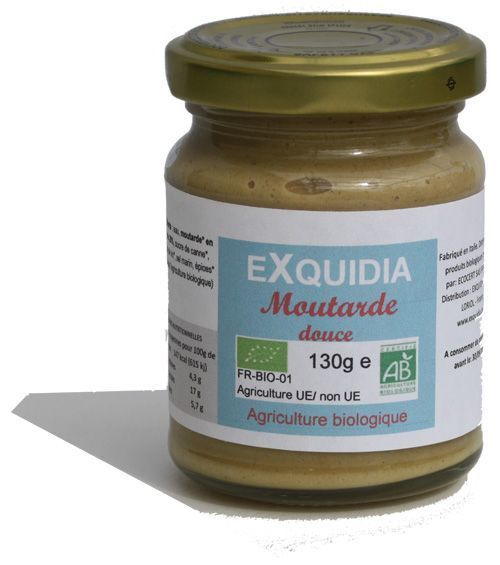MOUTARDE DOUCE BIO vegan Exquidia : 130 grammes