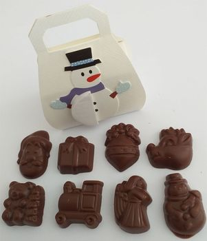 8 MINI FIGURINES DE NOËL ALTERNATIVE au lait (sans lait) BIO vegan sans allergènes Allfree premium : 36 grammes
