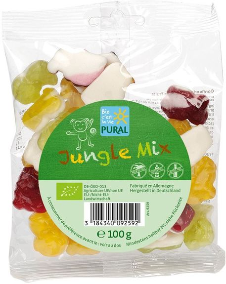 Bonbons BIO fruités « Mix Jungle » - Pural : 100 grammes