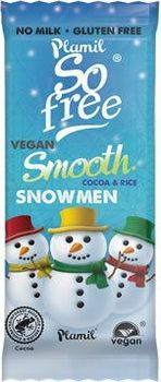 3 bonhommes de neige ALTERNATIVE au lait (sans lait) BIO vegan Plamil So Free : 30 grammes