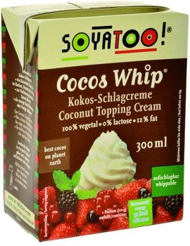 Crème à fouetter  COCO CUISINE (Cocos Whip) « SOYATOO » : 300ml