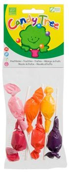 6 SUCETTES ASSORTIES BIO vegan sans allergènes Candy Tree : 60g