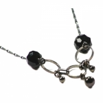 Lilakacemi necklace Orage black