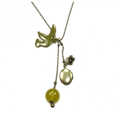 Lina Poum long necklace My Bird olive